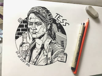 Daily Drawing #1 The Last of Us - Tess by VillainFace