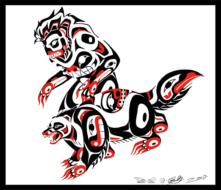 Wallpapers Tribal Animals Animal Tattoo 1024x1024: Man That Lived With Wolverines By Tarkheki On DeviantArt