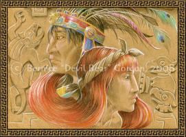 Ocelotl and the Village Girl by tarkheki