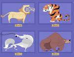 Circus of Animals I-IV