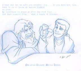 Obi-wan Kenobi: Mean Drunk by tarkheki