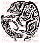 Bear and Otter Tribal Tattoo