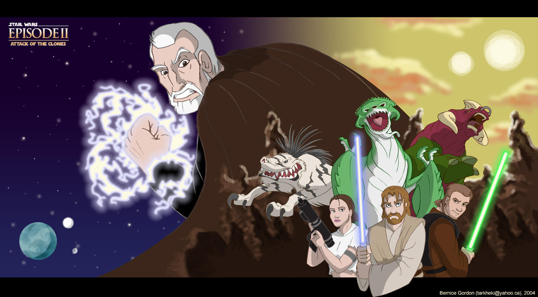 Star Wars Ep 2 Poster by tarkheki