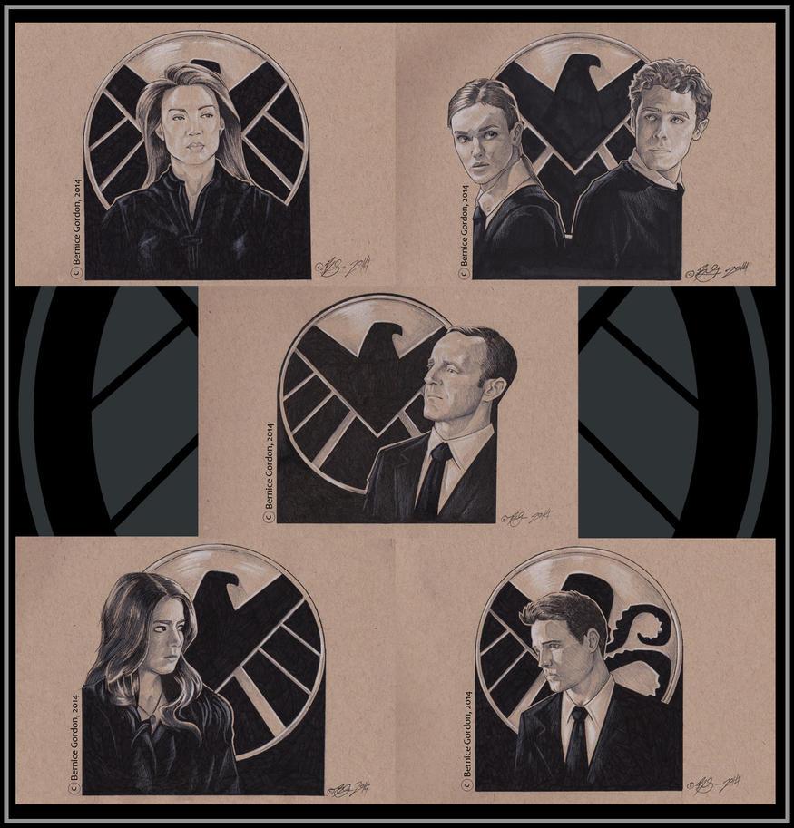 Agents of S.H.I.E.L.D.- Inktober by tarkheki