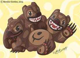 3 Bear Cubs by tarkheki