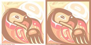 Gold Eagle Sun- Man by tarkheki