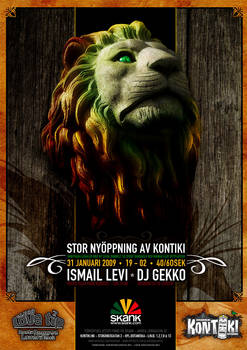 Lovetip Lion Poster