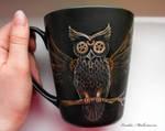 Steampunk Owl Mug