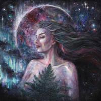 Aurora Borealis by Evidriell