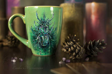 Stag Beetle, King of the Oak Forest by Evidriell