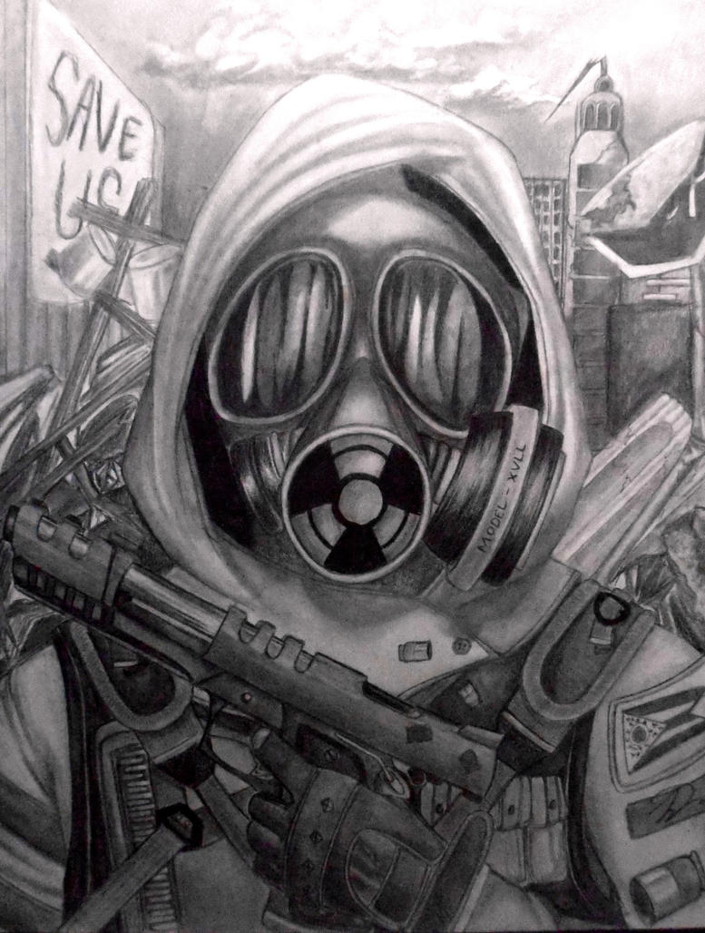 Gas mask dude by idont0know on DeviantArt