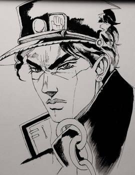 Jotaro Kujo Draft, Ink