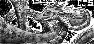 Ferocious Dragon by Dragonis0