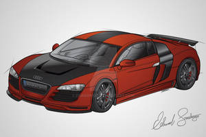 Audi R8 Color Vector