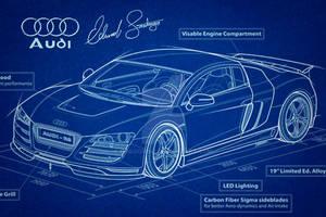Audi R8 Vector Blueprint