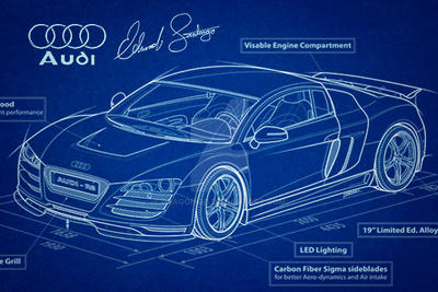 Audi R8 Vector Blueprint by Dragonis0