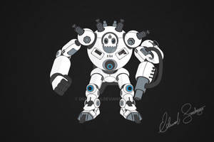 Robot Vector Illustration: Brute