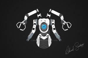 Robot Vector Illustration: Sentry