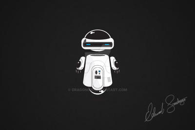 Robot Vector Illustration: Drone by Dragonis0