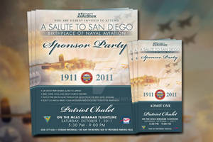 Miramar Airshow Sponsor Party Invites and Tickets