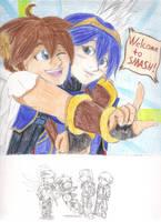 KIxFE/SSB: Welcoming Party by brawlingwolf