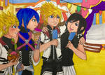 KH: Ice Cream Double Date by brawlingwolf