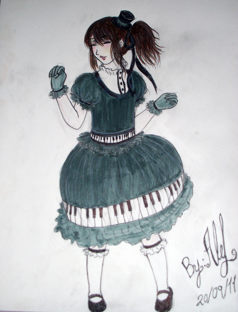 Piano Lolita Dress by Ale-L