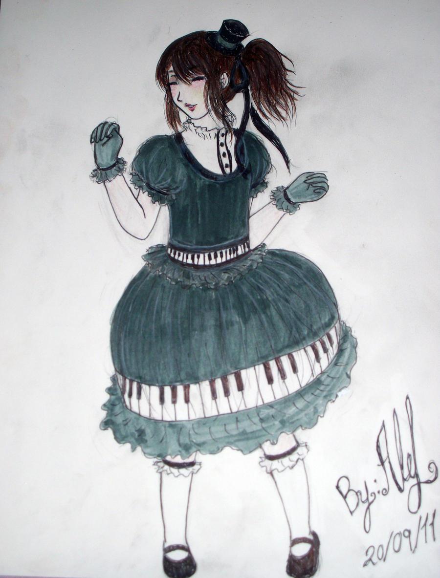 Piano Lolita Dress by Ale-L