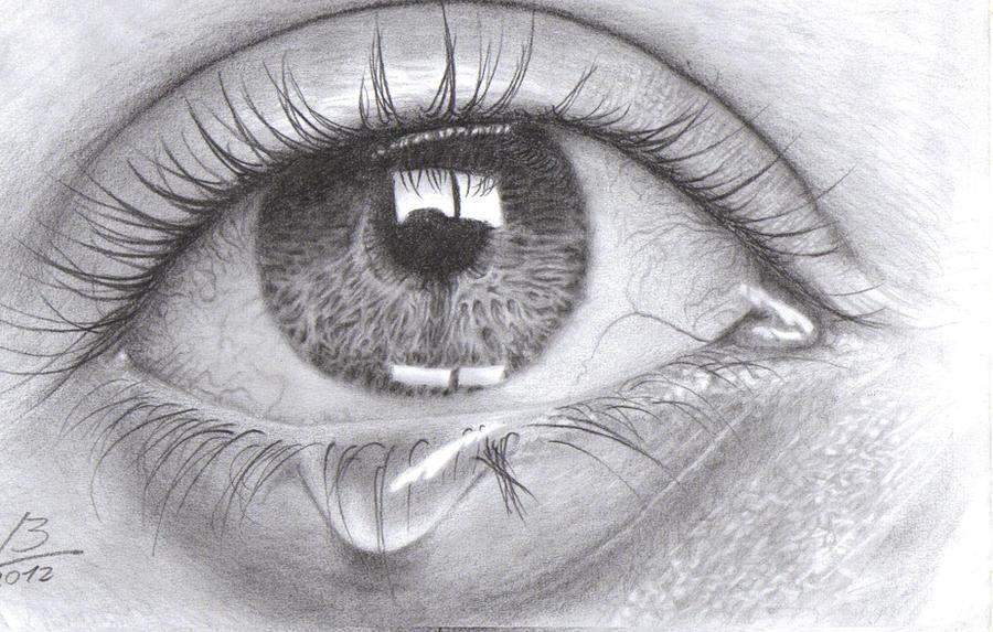Girl Eyes Drawing Crying Girl Eyes...900