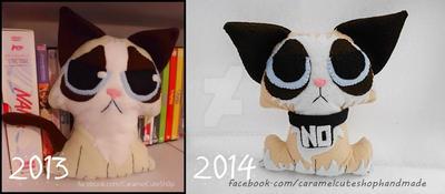 Chibi Grumpy Cat Plushie By Albaorozco-d6zxnam-hor
