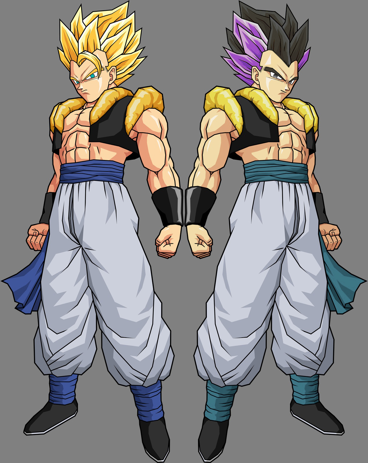 Gotenks Adult and Gogeta by alessandelpho on DeviantArt