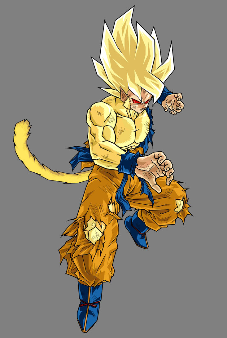 Goku Half Gold Oozharu By Alessandelpho On DeviantArt