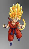 Chibi Goku, Super Saiyan by alessandelpho