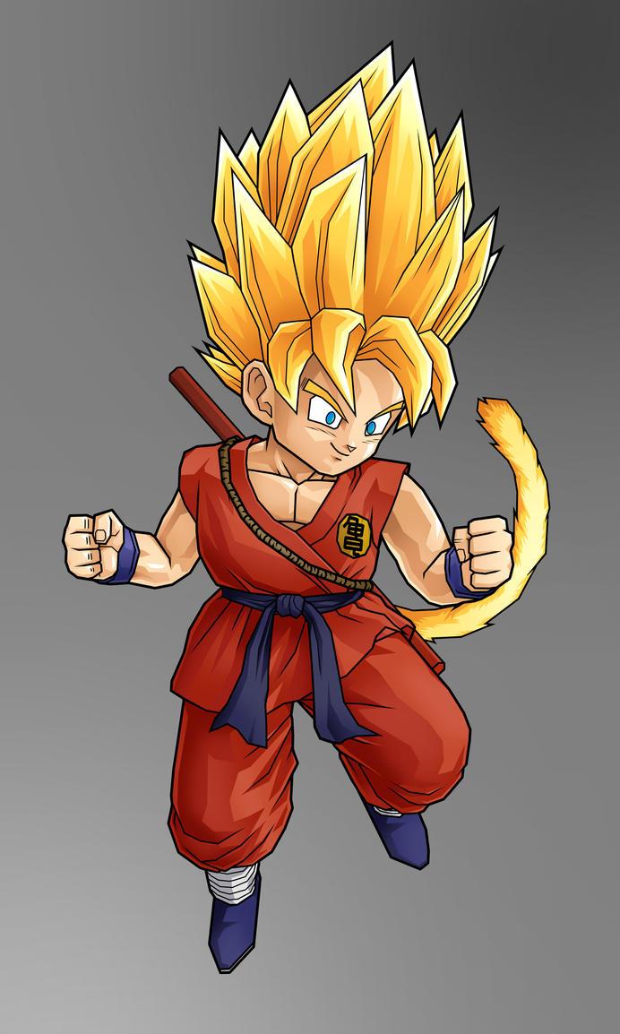 Chibi goku super saiyan by alessandelpho on deviantart - Goku super sayen ...