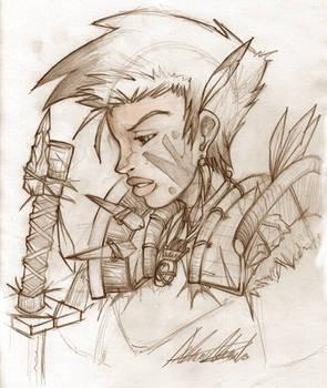 Barbarian's Bushido, Sketch