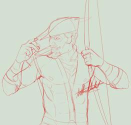 Green Arrow, Old School Sketch