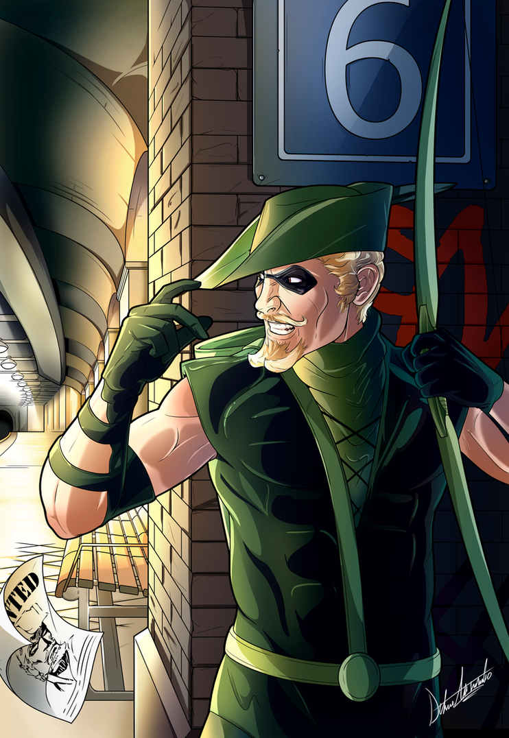 Green Arrow, Old school by alessandelpho