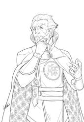 Ra's al Ghul, Lineart sketch