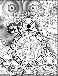 Majoras Mask Coloring Page