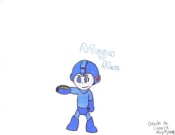 The Blue Bomber, Mega Man by PSI-Mario