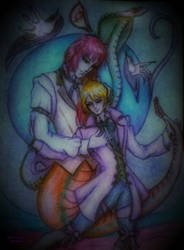 Reptil egg (Art trade) Terence and Alois by LuciferArcadia