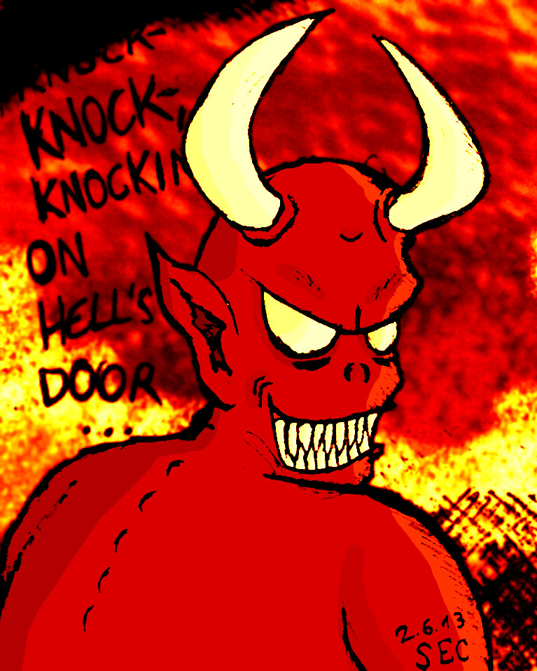 Knock- knock- knocking on hell\u0027s door! by Sucoodan ... & Knock- knock- knocking on hell\u0027s door! by Sucoodan on DeviantArt Pezcame.Com