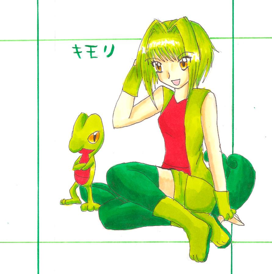 Votre personnage de sexe opposé!  Treecko_Gijinka_by_RoCkBaT