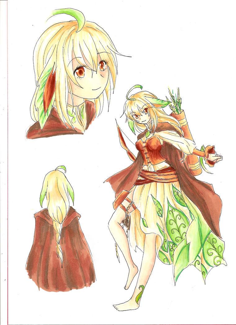 Leafeon Gijinka by RoCkBaT on DeviantArt
