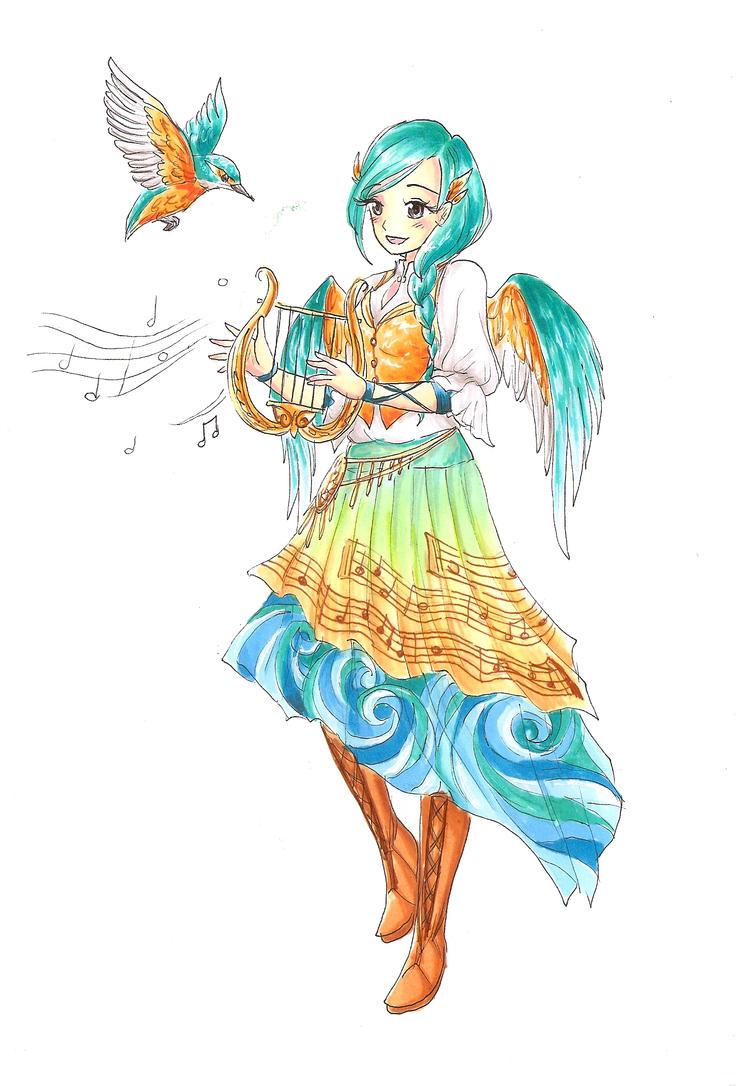 Alcyone The Kingfisher Girl By Rockbat On Deviantart