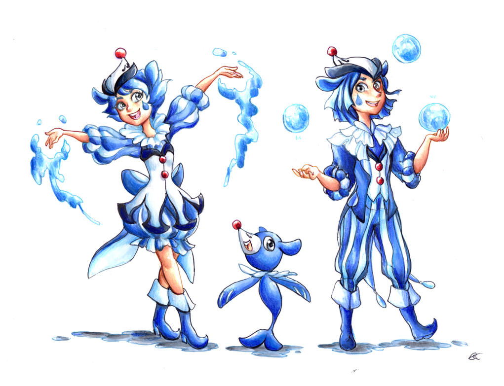 Popplio Gijinka - Pokemon sun and moon by RoCkBaT