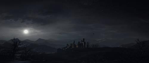 Landscape from Beyond the Gloaming by KalebLechowski