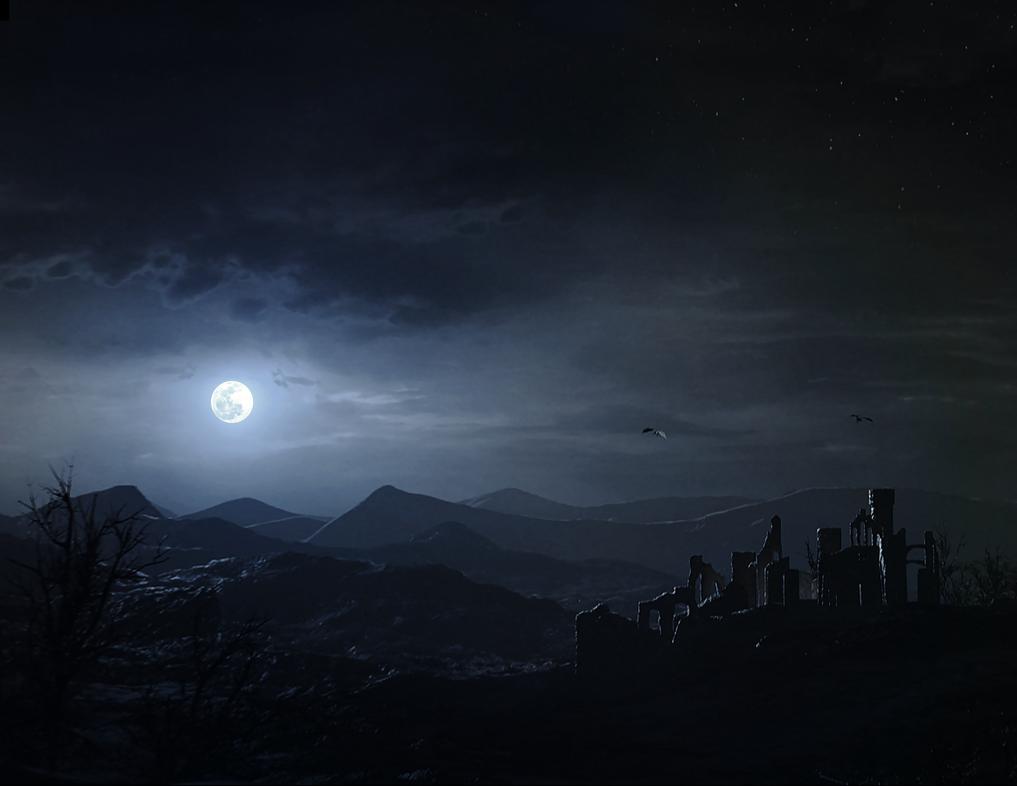 Beyond the Gloaming - Night Landscape by KalebLechowski