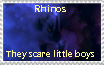 Rhinos scare little boys by Ghost-Peacock