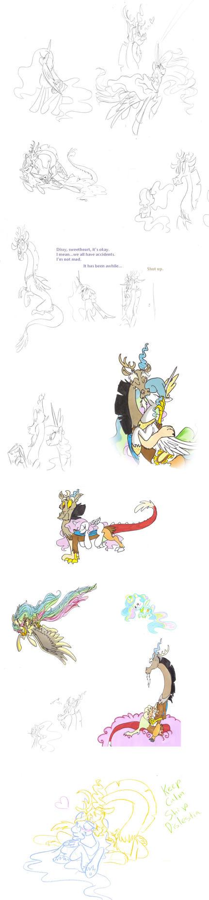 Keep calm, ship Dislestia by Ghost-Peacock